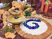 декоративный водопад из камней
