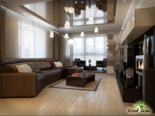 ремонт зала квартиры Киев