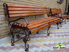 лавки дерев'яні з куванням