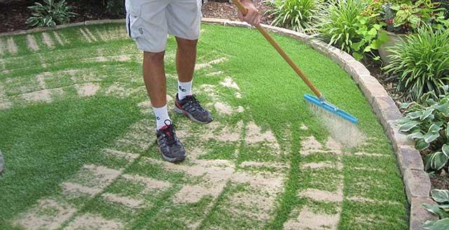 наповнення газону гранулами