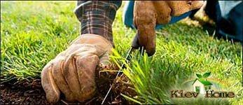 розрізання рулонів газону