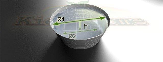 схема для калькулятора об'єму конусного ставка