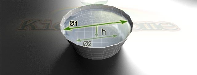 схема для калькулятора объема конусного пруда