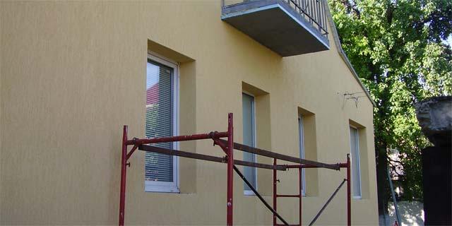 нанесення короеда на утеплений фасад