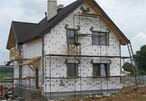 роботи з утеплення будинку пінопластом
