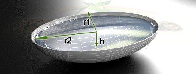 калькулятор для пруда формы элипс