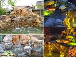 пруд и каскады в Зазимье