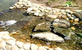 ручей впадающий в пруд
