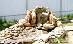 строительство водопада для пруда