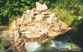 декоративний ставок з водоспадом маленький