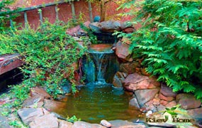 водопад и водоем в конча-заспе