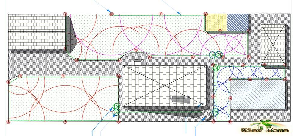 Проект-схема автоматичного поливу в Києві