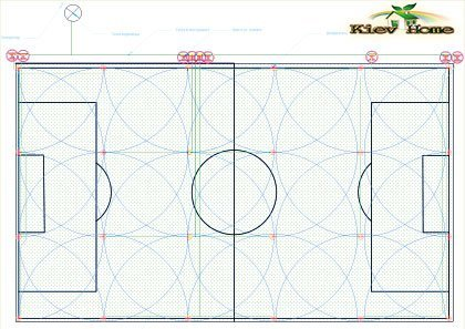 Схема автополива для футбольного поля